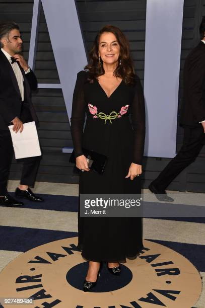 Annabella Sciorra attends the 2018 Vanity Fair Oscar Party hosted by Radhika Jones at the Wallis Annenberg Center for the Performing Arts on March 4...
