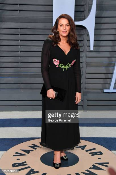 Annabella Sciorra attends the 2018 Vanity Fair Oscar Party hosted by Radhika Jones at Wallis Annenberg Center for the Performing Arts on March 4 2018...