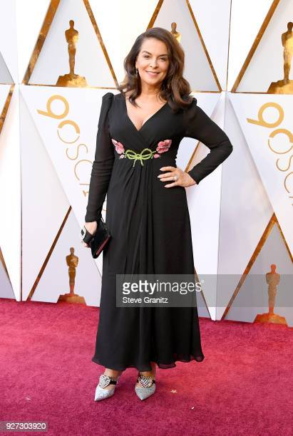Annabella Sciorra attends the 90th Annual Academy Awards at Hollywood Highland Center on March 4 2018 in Hollywood California