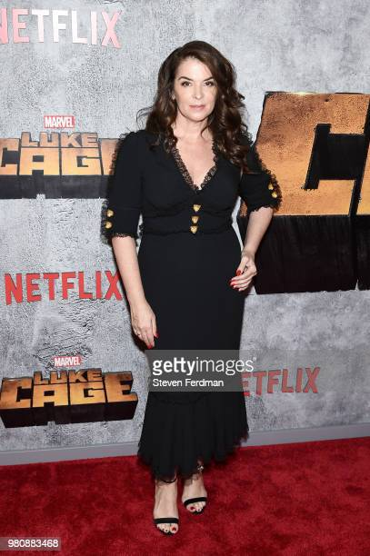 Annabella Sciorra attends the 'Luke Cage' Season 2 premiere at The Edison Ballroom on June 21 2018 in New York City