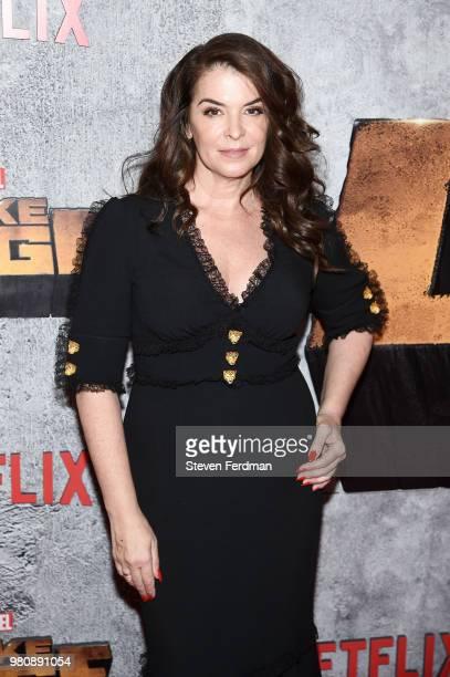 Annabella Sciorra attends the 'Luke Cage' Season 2 premiere at The Edison Ballroom on June 21 2018 in New York City
