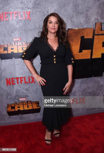 Annabella Sciorra attends the Netflix Original Series Marvel's Luke Cage Season 2 New York City Premiere on June 21 2018 in New York City