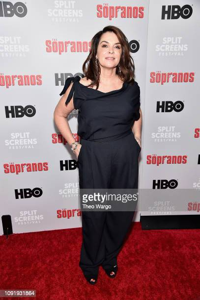 Annabella Sciorra attends the 'The Sopranos' 20th Anniversary Panel Discussion at SVA Theater on January 09 2019 in New York City