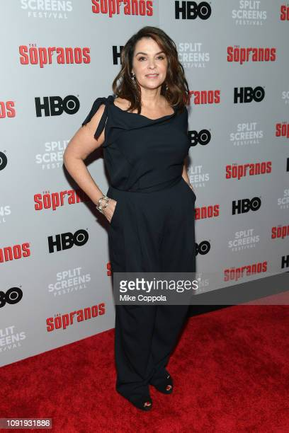 Annabella Sciorra attends the The Sopranos 20th Anniversary Panel Discussion at SVA Theater on January 09 2019 in New York City