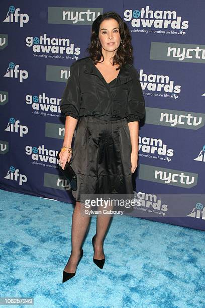 Annabella Sciorra during 16th Annual Gotham Awards Red Carpet at Chelsea Piers at Pier 60 in New York City New York United States