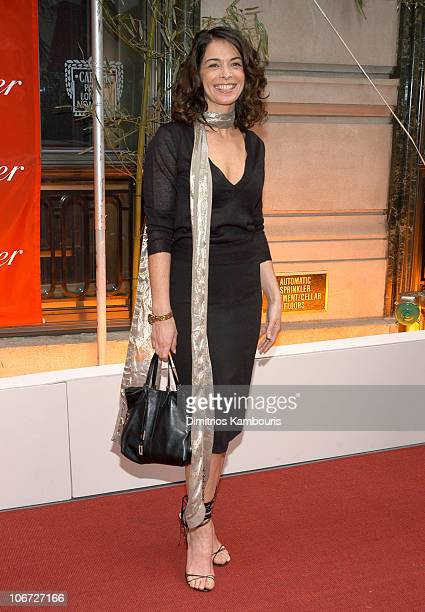 Annabella Sciorra during Cartier Presents an Evening Where East Meets West in Celebration of Le Baiser du Dragon at The Cartier Mansion in New York...