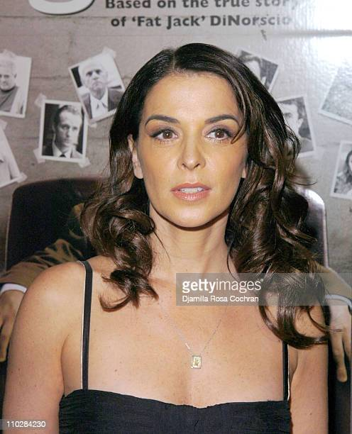 Annabella Sciorra during Find Me Guilty New York City Premiere Inside Arrivals at Sony Lincoln Square in New York New York United States