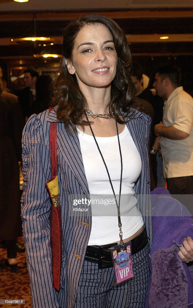 Annabella Sciorra during Hard Rock Cafe Presents 'Little Steven's Underground Garage' radio show at the Hard Rock Cafe in NYC at Hard Rock Cafe NYC in New York City, New York, United States.