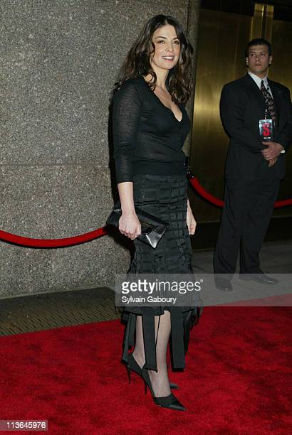 Annabella Sciorra during HBO Premiere of 'The Sopranos' Season 5 at Radio City Music Hall in New York New York United States