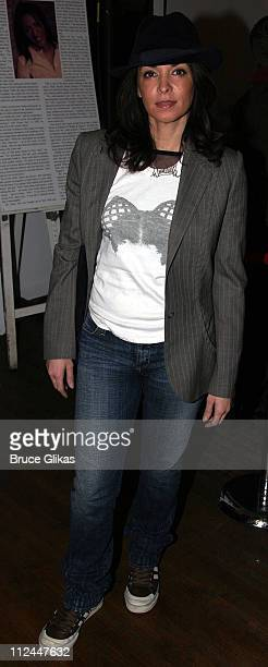 Annabella Sciorra during Opening Night of Bridge and Tunnel OffBroadway at 45 Bleeker Theater in New York New York United States
