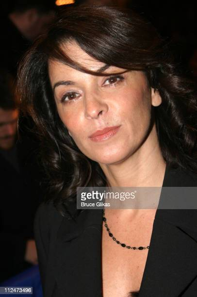 Annabella Sciorra during Opening Night of Night Mother on Broadway at The Royale Theater then Tavern on The Green in New York NY United States