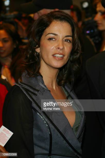 Annabella Sciorra during Russell Simmons's Def Poetry Jam on Broadway - Arrivals in New York, New York, United States.