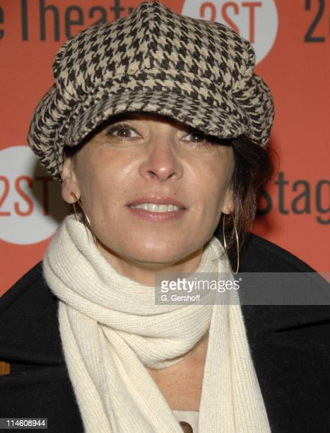 """Annabella Sciorra during """"The Scene"""" New York Opening Night and After Party at Second Stage Theatre in New York City, New York, United States."""
