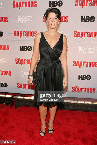 Annabella Sciorra during The Sopranos Final Season World Premiere Arrivals at Radio City Music Hall in New York City New York United States