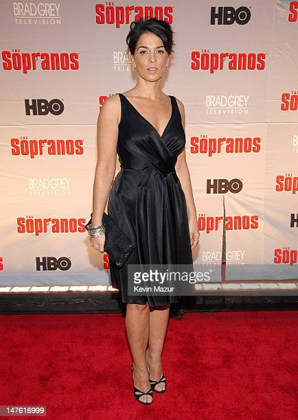 Annabella Sciorra during 'The Sopranos' Final Season World Premiere Red Carpet at Radio City Music Hall in New York City New York United States