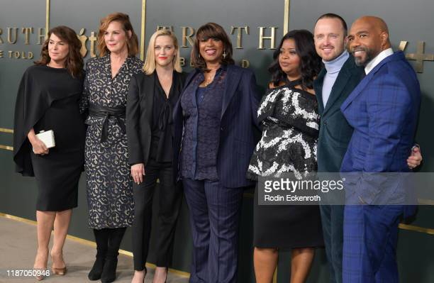Annabella Sciorra Elizabeth Perkins Reese Witherspoon Nichelle D Tramble Octavia Spencer Aaron Paul and Michael Beach attend the Premiere of Apple...