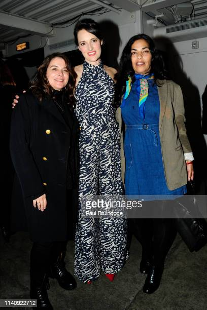 Annabella Sciorra Phoebe WallerBridge and Sarita Choudhury attend Special Screening Of Season 2 Of Amazon's Fleabag at Metrograph on May 2 2019 in...