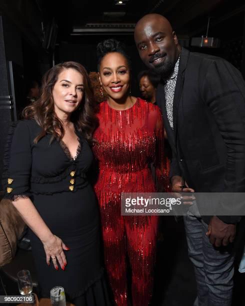 Annabella Sciorra Simone Missick and Mike Colter attend the Netflix Original Series Marvel's Luke Cage Season 2 New York City Premiere on June 21...