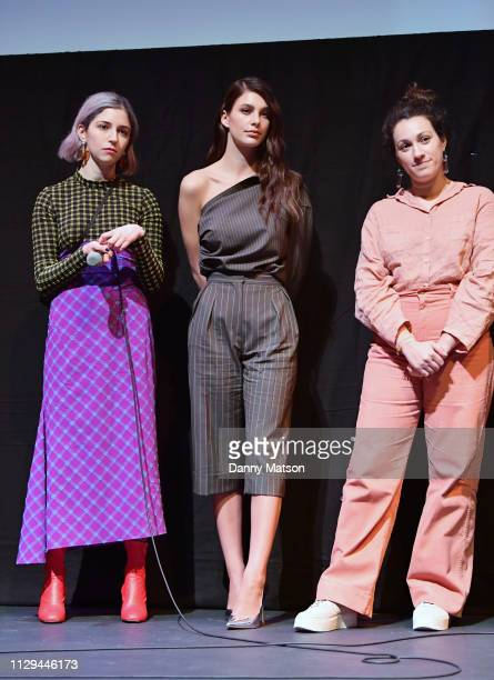 Annabelle Attanasio Camila Morrone and Lizzie Shapiro speak onstage at 'Mickey and the Bear' Premiere during the 2019 SXSW Conference and Festivals...
