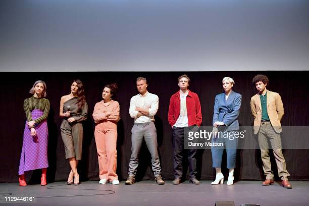 Annabelle Attanasio Camila Morrone Lizzie Shapiro James Badge Dale Ben Rosenfield Rebecca Henderson and Calvin Demba speak onstage at the 'Mickey and...