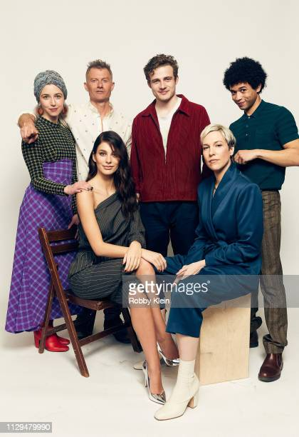 Annabelle Attanasio James Badge Dale Ben Rosenfield Calvin Demba Camila Morrone and Rebecca Henderson of the film 'Mickey and the Bear' pose for a...