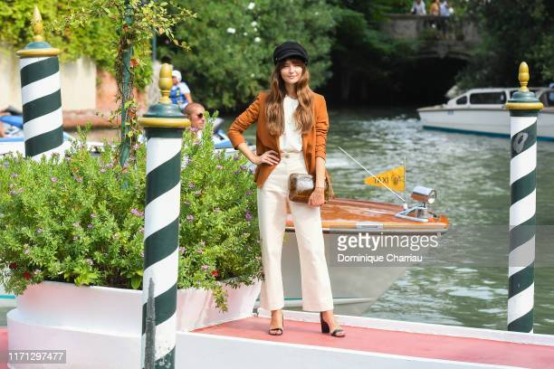 Annabelle Belmonda is seen arriving at the 76th Venice Film Festival on August 31 2019 in Venice Italy