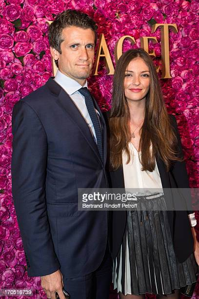Annabelle Belmondo and guest attend the Piaget Rose Day Private Event in Orangerie Ephemere at Jardin des Tuileries on June 13 2013 in Paris France