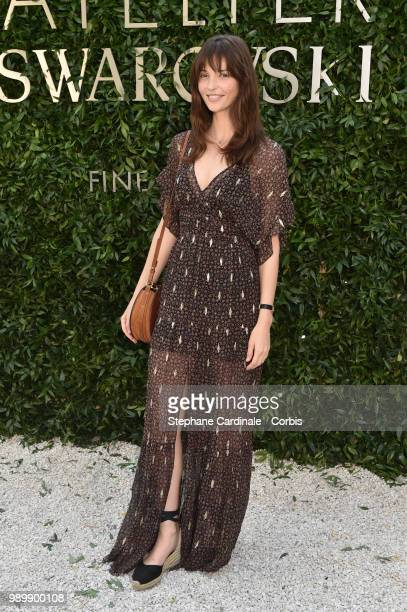 Annabelle Belmondo attends the Atelier Swarovski Cocktail Of The New Penelope Cruz Fine Jewelry Collection as part of Paris Fashion Week on July 2...