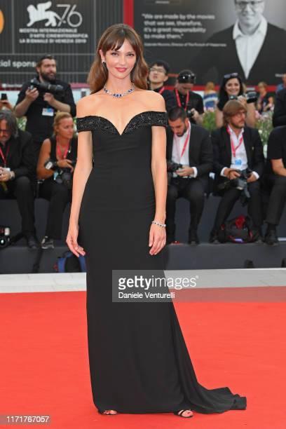 "Annabelle Belmondo walks the red carpet ahead of the ""Martin Eden"" screening during the 76th Venice Film Festival at Sala Grande on September 02,..."
