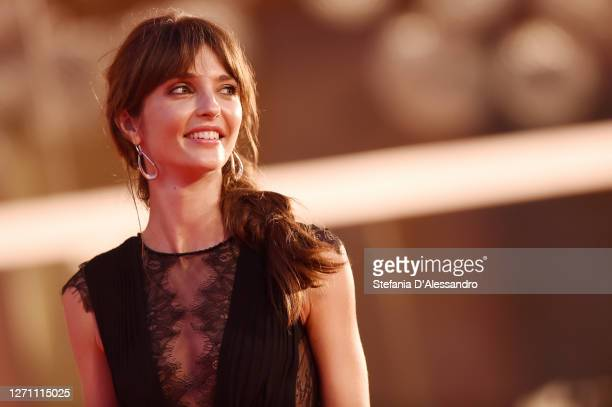 """Annabelle Belmondo walks the red carpet ahead of the movie """"The World To Come"""" at the 77th Venice Film Festival on September 06, 2020 in Venice,..."""