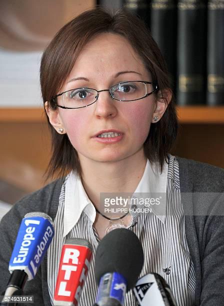 Annabelle Delory, la soeur de Vincent Delory l'un des deux otages fran��ais enlev��s en janvier �� Niamey et tu��s �� la fronti��re nig��ro-malienne,...
