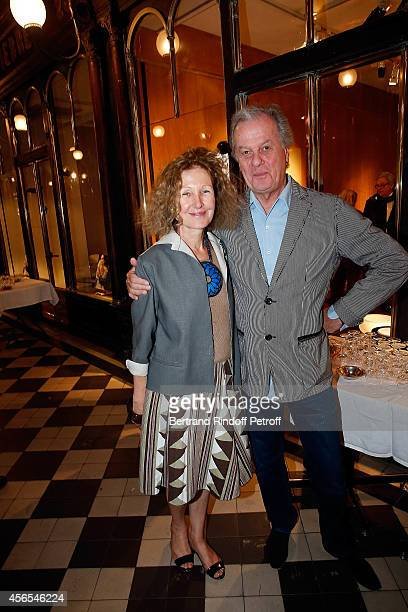 Annabelle d'Huart and Jacques Grange attend Monsieur Dior Il etait une fois book signingin Galerie Passebon on October 2 2014 in Paris France