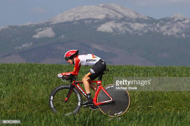 Annabelle Dreville of France and Lotto Soudal Ladies during the 31st Women WT EmakumeenBira Stage 2 266km Individual Time Trial from Agurain to...