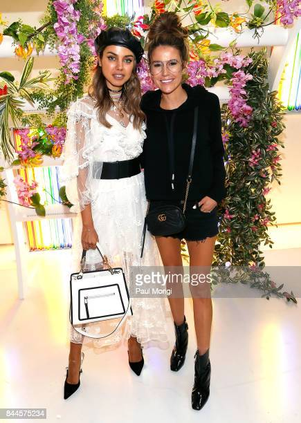 Annabelle Fleur and Christine Andrew attend the Milly presentation during New York Fashion Week on September 8 2017 in New York City