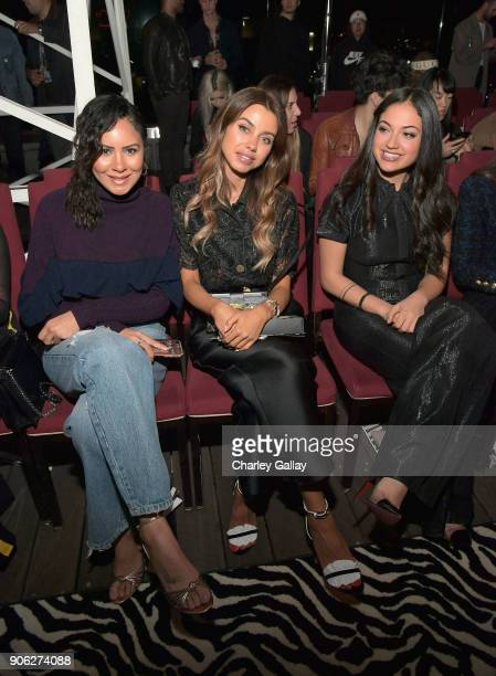 Annabelle Fleur and Innana Sarkis attend the Wolk Morais Collection 6 Fashion Show at The Hollywood Roosevelt Hotel on January 17 2018 in Los Angeles...
