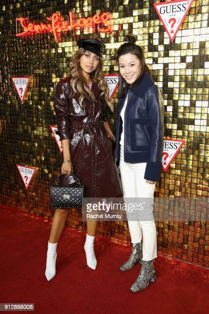Annabelle Fleur and Jenny Tsang at the Guess Spring 2018 Campaign Reveal starring Jennifer Lopez on January 31 2018 in Los Angeles California