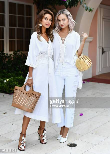 Annabelle Fleur and Liz Cherkasova attend Summer '18 Box of Style by Rachel Zoe Soiree at Hotel Bel Air on June 12 2018 in Los Angeles California