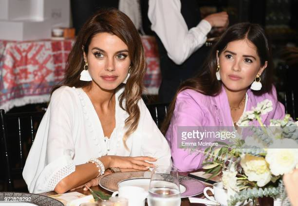Annabelle Fleur and Paola Alberdi attend Summer '18 Box of Style by Rachel Zoe Soiree at Hotel Bel Air on June 12 2018 in Los Angeles California