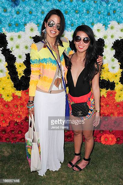 Annabelle Fleur and Raissa Gerona attend REVOLVEclothing's VIP Festival Event At The Saguaro Hotel Day 1 at The Saguaro Palm Springs on April 13 2013...