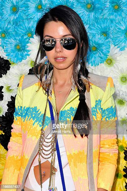 Annabelle Fleur attends REVOLVEclothing's VIP Festival Event At The Saguaro Hotel Day 1 at The Saguaro Palm Springs on April 13 2013 in Palm Springs...
