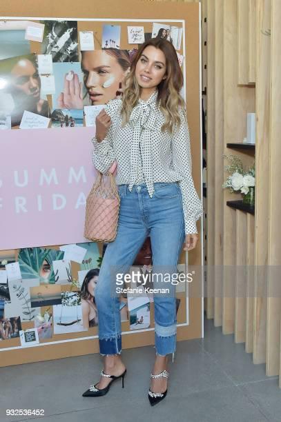 Annabelle Fleur attends Summer Fridays Skincare Launch With Marianna Hewitt Lauren Gores Ireland at Hayden on March 15 2018 in Culver City California