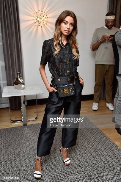 Annabelle Fleur attends the Wolk Morais Collection 6 Fashion Show at The Hollywood Roosevelt Hotel on January 17 2018 in Los Angeles California