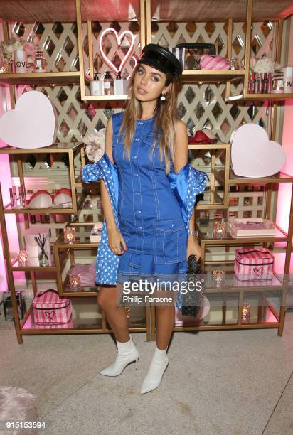 Annabelle Fleur attends Victoria's Secret Ultimate Girls Night In with Angels Josephine Skriver and Romee Strijd at Peninsula Hotel on February 6...