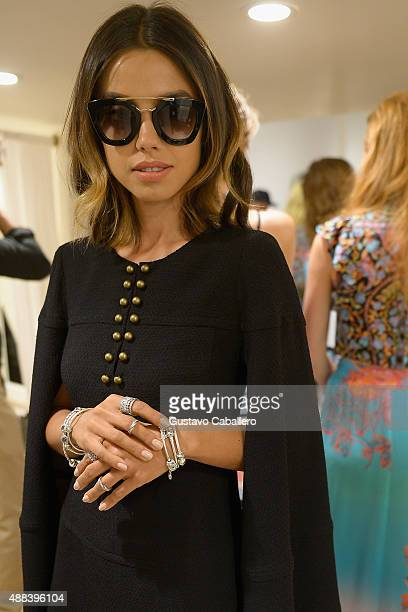 Annabelle Fleur poses backstage at PANDORA Jewelry X Nanette Lepore at New York Fashion Week on September 15 2015 in New York City