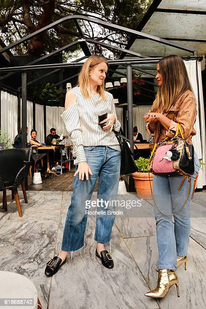 Annabelle Harron and Sophie Lopez attend the SOREL Who What Wear Fall Reboot brunch on October 27 2016 in Los Angeles California