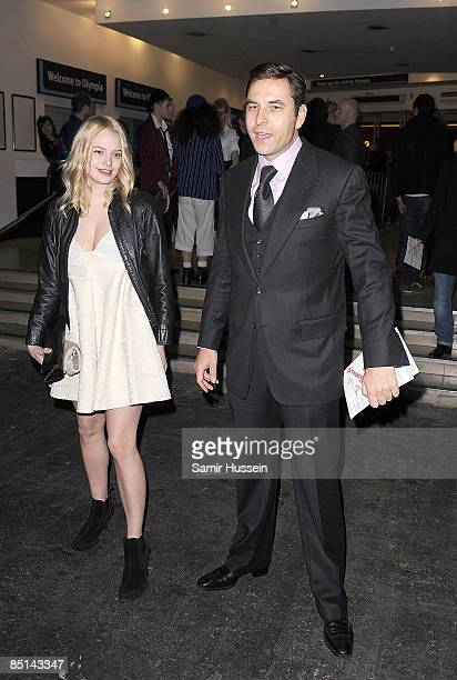 Annabelle Horsey and David Walliams arrive at the Vivienne Westwood Red Label catwalk show during a/w 2009 London Fashion Week at the National Hall...