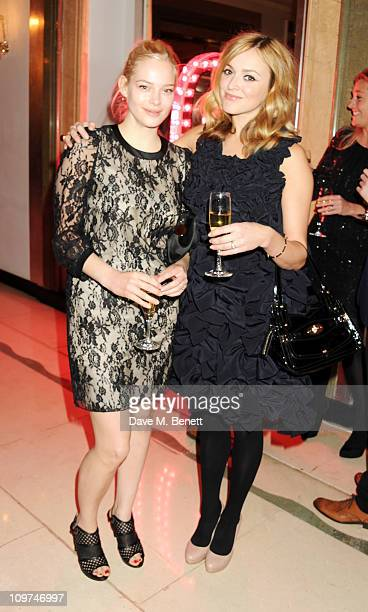 Annabelle Horsey and Fearne Cotton attend the Glamour 10th Birthday Dinner at Claridges on March 3 2011 in London England