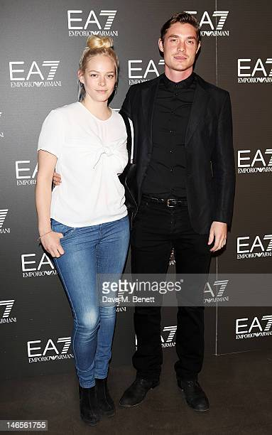 Annabelle Horsey and Max Brown attend as EA7 Emporio Armani Summer Garden Live presents Summer of Sport at Emporio Armani on June 19 2012 in London...