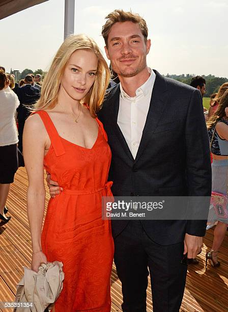 Annabelle Horsey and Max Brown attend day two of the Audi Polo Challenge at Coworth Park on May 29 2016 in London England
