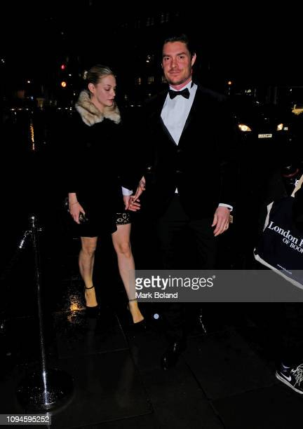 Annabelle Horsey and Max Brown attend the dunhill PreBAFTA dinner at dunhill Bourdon House on February 6 2019 in London England